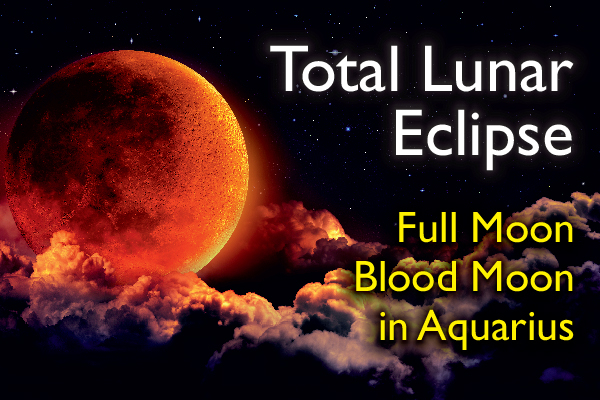 Total Lunar Eclipse in Aquarius
