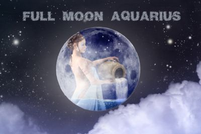 Full Moon (Almost Lunar Eclipse) in Aquarius: Future Echoes