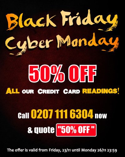 Black Friday to Cyber Monday all readings 50% OFF